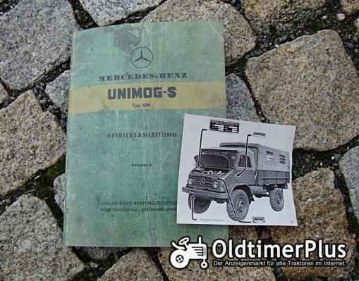Betriebsanleitung Unimog 404 S 1956 Benziner Foto 1