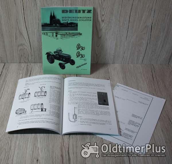 Deutz Bedienungsanleitung Traktor D30 D30S 28PS H1125-3/3 Foto 1