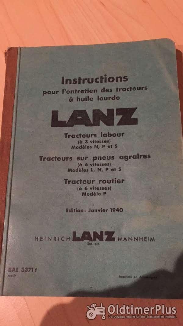 Lanz Bulldog Betriebsanleitung Liste für 25, 35, 45 und 55 PS Bulldog Foto 1