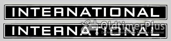 IHC Aufkleber 2x international Logo Emblem Sticker Label 52 cm neu Foto 1