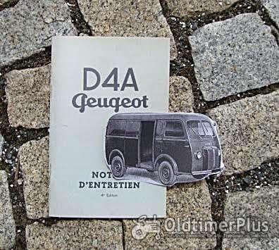 Betriebsanleitung Peugeot D4A Transporter / Bus 1958 Chenard & Walcker Foto 1