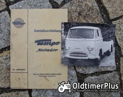 Betriebsanleitung Tempo Matador C 1961 Foto 1