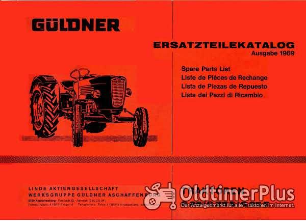Güldner G25 Ersatzteilkatalog als pdf-Datei Foto 1