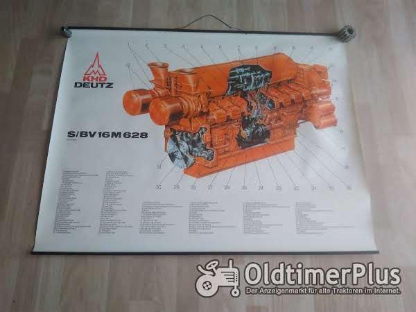 Deutz S/ BV 16M 628 Lehrtafel Plakat Poster Schnittbild Foto 1