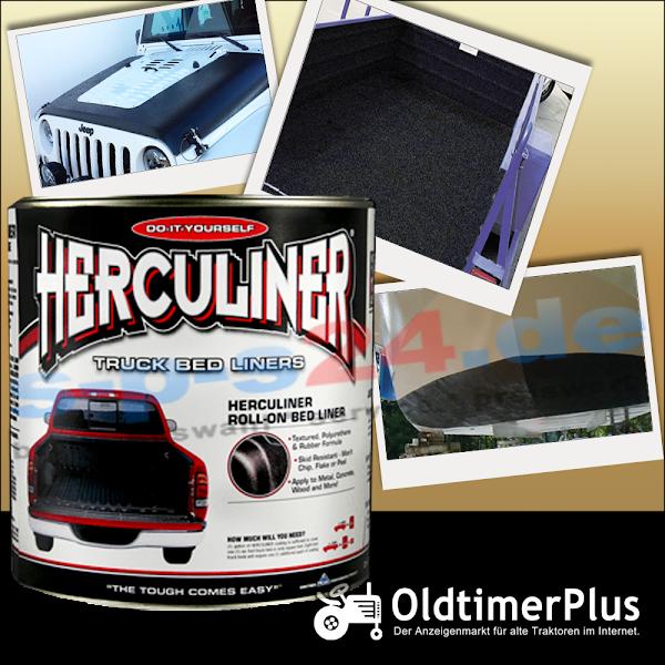Universal Herculiner Beschichtung Nutzfahrzeuge Traktoren Oldtimer Landtechnik schwarz 3,69 Liter   Einzeldose Foto 1