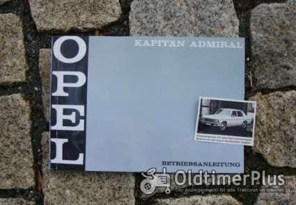 Betriebsanleitung Opel Kapitän B / Admiral B 1969 Foto 1