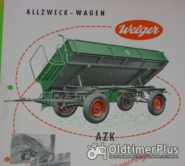 Welger SUCHE  Welger AZK 60F mit Kutschbock und Universal-Stahl-Plattformwagen der 30er Foto 1