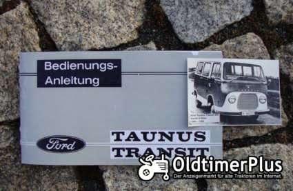 Betriebsanleitung Ford Transit I 1965 Taunus Transit Foto 1