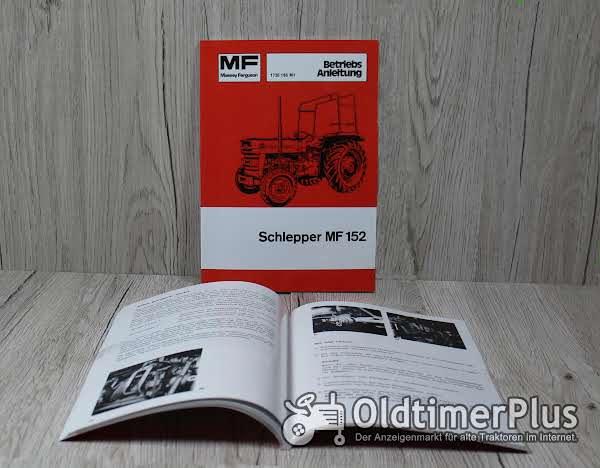 Massey Ferguson Bedienungsanleitung Traktor MF152 Foto 1