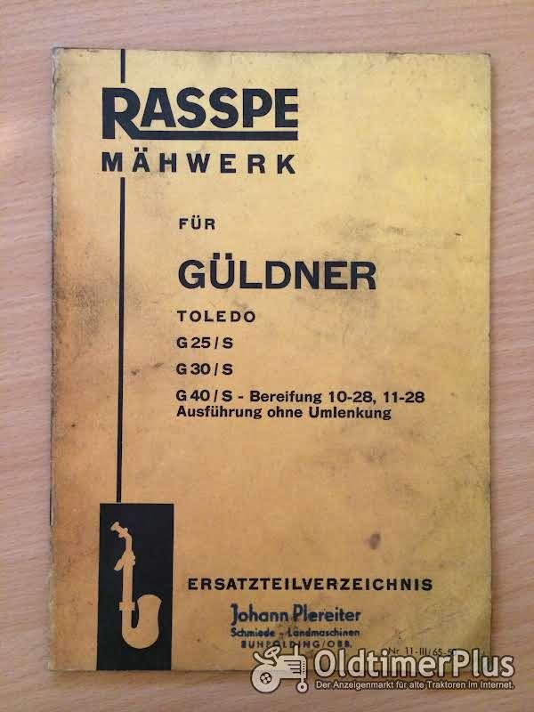 Rasspe Mähwerk für Güldner Toledo G25 G30 G40 Foto 1