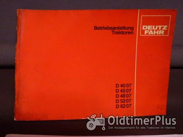 Deutz Betriebsanleitung 4007,4507,4807,5207,6207 Foto 1