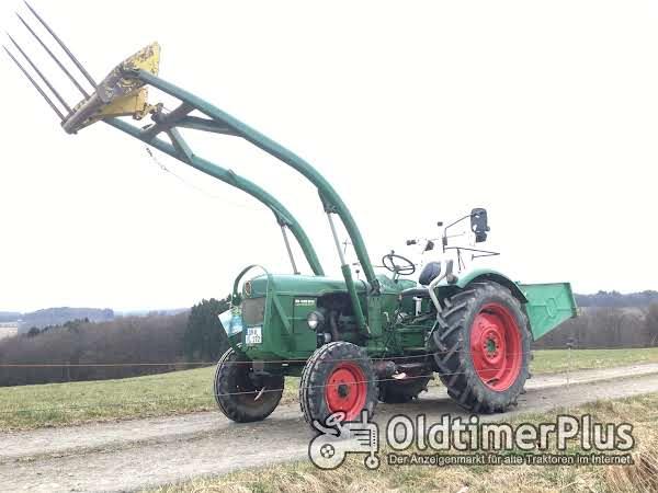 Deutz D4005 Frontlader Kat. 2 hydraulische Lenkung, viele Neuteile Foto 1