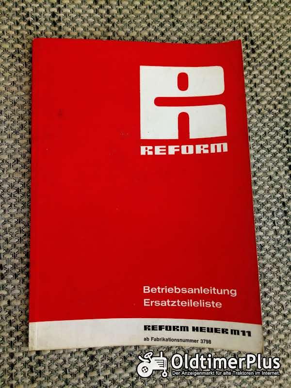 Reform Heuer M11 Betriebsanleitung Ersatzteilliste Foto 1