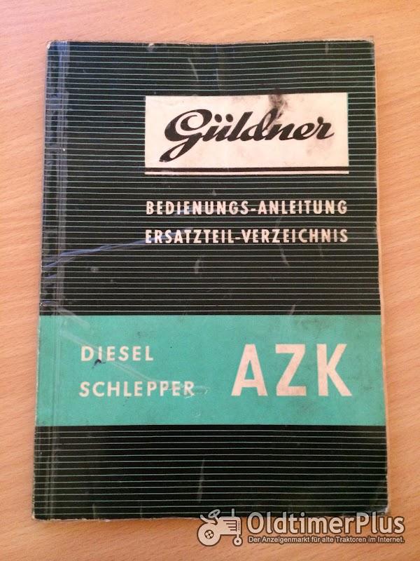 Güldner AZK Bedienungsanleitung und Ersatzteilliste Foto 1
