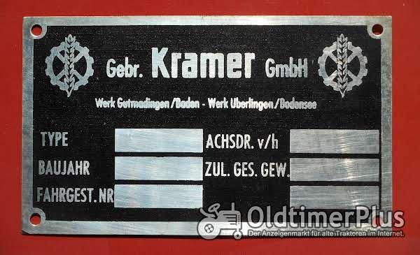 Kramer Gebr.  GmbH (Typenschild) Foto 1