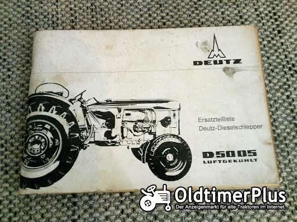 Deutz D5005 Ersatzteilliste Foto 1