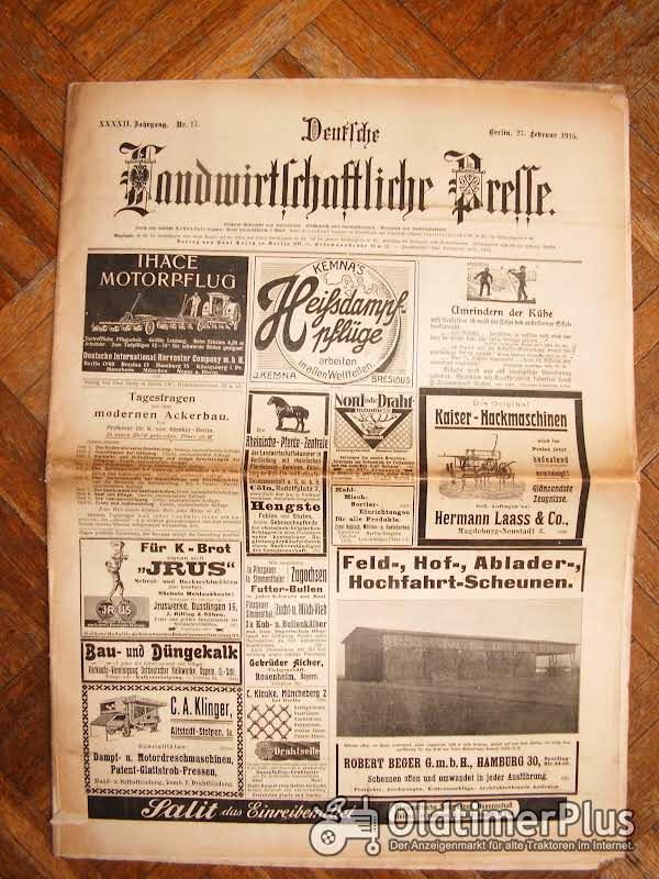 Deutsche landwirtschaftliche Presse vom 27.2 1915 Foto 1