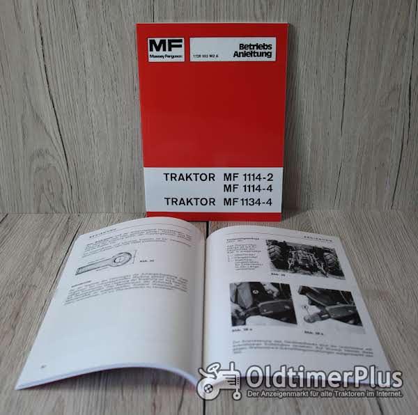 Massey Ferguson Betriebsanleitung  Traktor MF 1114-2 MF 1114-4 und MF 1134-4 Foto 1