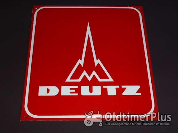 Deutz Schild original Foto 1