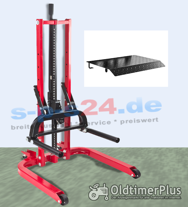Hydraulik Reifen Montagehilfe höhenverstellbar | max 800 kg Foto 1