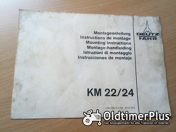 Fahr KM 22/24 Montageanleitung Foto 1