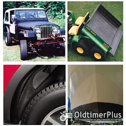 mini Herculiner Beschichtung für Nutzfahrzeuge Traktoren Oldtimer Landtechnik schwarz 0,9 Liter | Pinsel set Foto 4