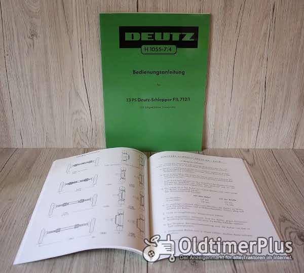 Deutz Bedienungsanleitung Traktor  F1L712 13 PS (H1055-7/4) Foto 1