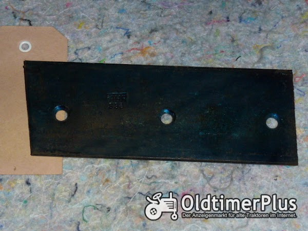 Fahr Stahlplatte für Mähwerke S33 Foto 1