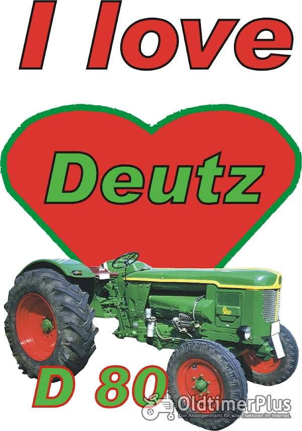 I love Deutz D 80 T-Shirt Foto 1