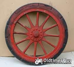 Hartgummi Reifen: Continental Elastic Holzspeichenrad mit Hartgummireifen, wohl LKW um 1920