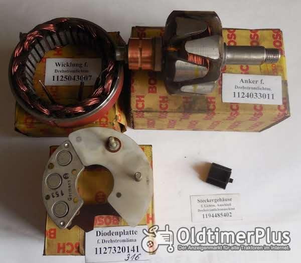 Bosch Anker, Wicklung, Diodenplatte, IHC, Deutz, VW, Foto 1