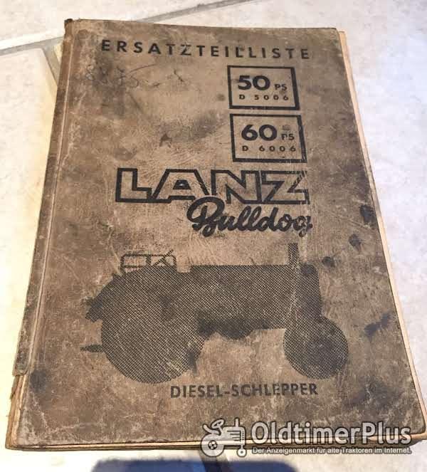 Lanz Bulldog Ersatzteile Liste für D6006 und D5006 Foto 1