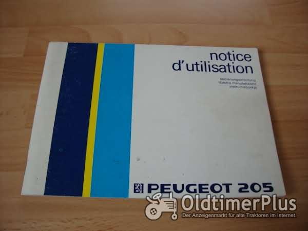 orig. Betriebsanleitung Peugeot 205 1986 Foto 1