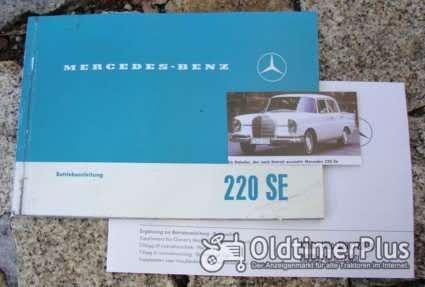 Betriebsanleitung Mercedes W111 220 SE 1963 Foto 1