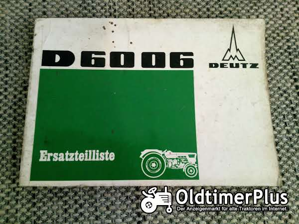 Deutz D6006 Ersatzteilliste Foto 1