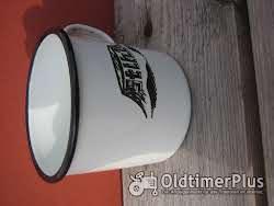 Emaile Tasse mit Stihl Logo Foto 5
