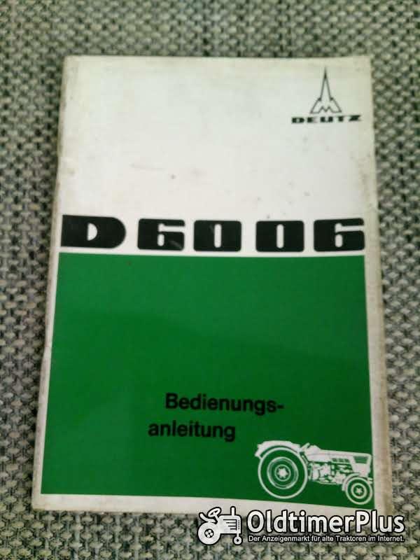 Deutz D 6006 Bedienungsanleitung Foto 1
