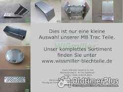 MB Trac Ersatzteile - Kotflügel, Tank, Aufstieg, Trittstufen