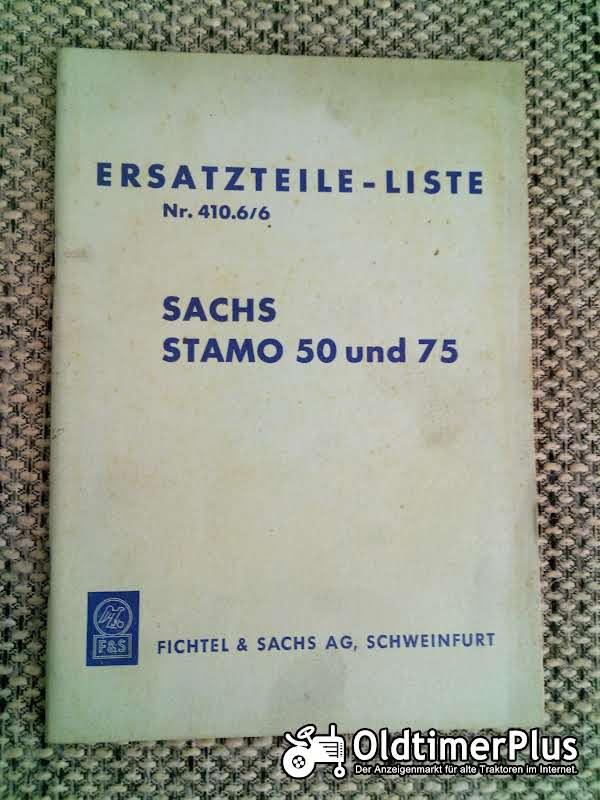 Sachs Stamo 50 und 75 Ersatzteilliste Nr. 410.6/6 Foto 1