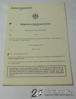 ABE, Allgemeine Betriebserlaubnis, KFZ-Brief Foto 12