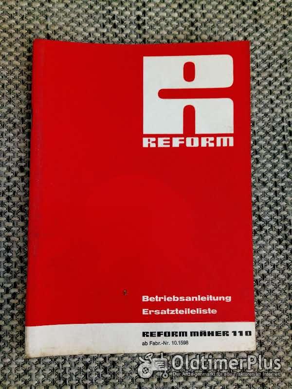 Reform Mäher 110 Betriebsanleitung Ersatzteilliste Foto 1
