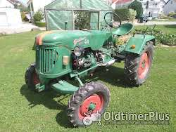 Güldner Oldtimer Traktor A Baureihe mit Mähwerk Foto 2