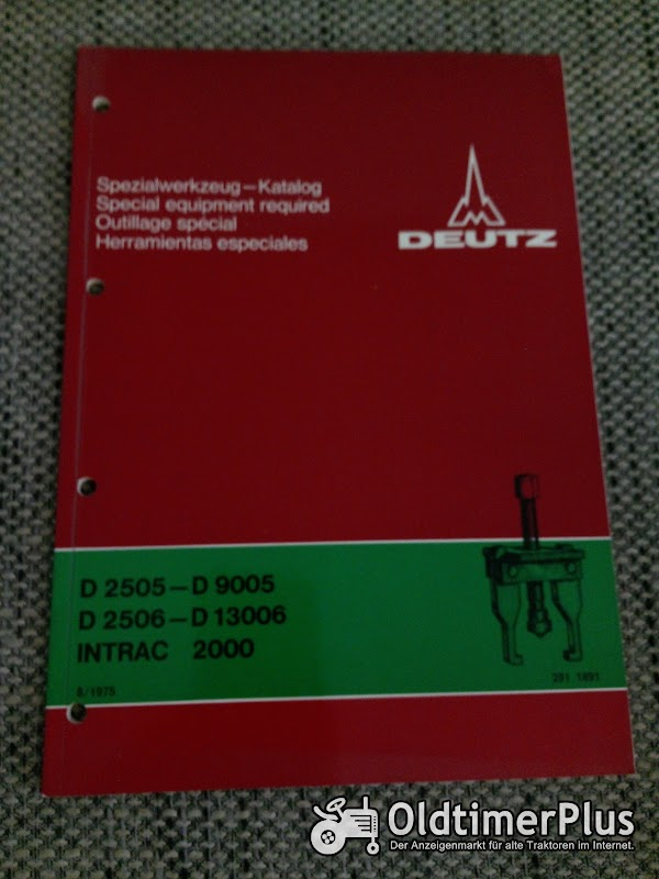 Deutz Spezialwerkzeug Katalog Foto 1