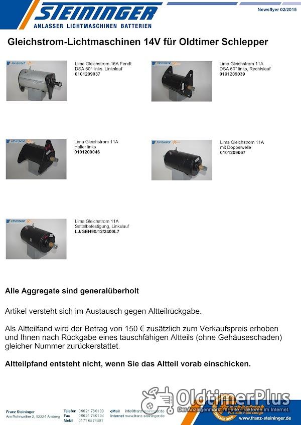 Verschiedene Gleichstrom-Lichtmaschinen 14V für Schlepper Foto 1