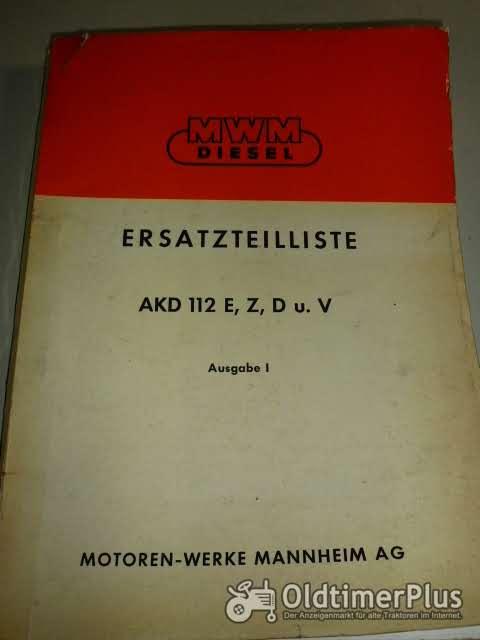 Ersatzteilliste MWM AKD112 E,Z,Du.V. Ausgabe 1 Foto 1