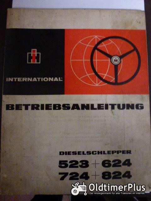 Betriebsanleitung IHC Dieselschlepper Foto 1