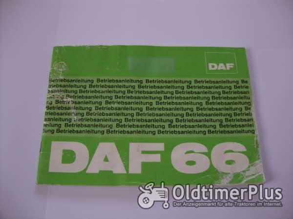 orig. Betriebsanleitung DAF 66 1974 Foto 1