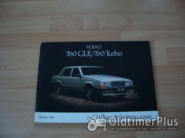 orig. Betriebsanleitung Volvo 760 GLE Turbo 1983 1984 Foto 1