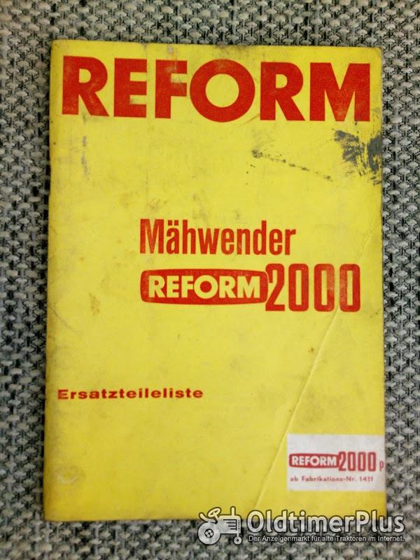 Reform 2000 Mähwender Ersatzteilliste Foto 1