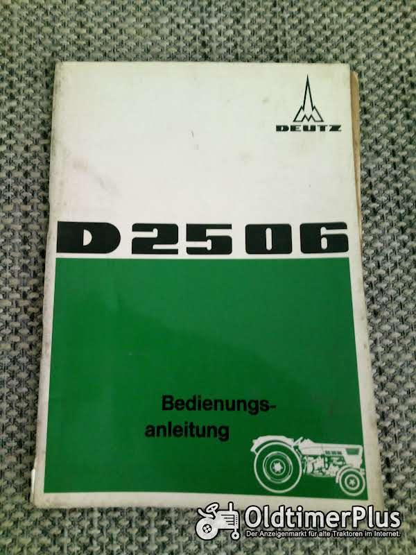 Deutz D 2506 Bedienungsanleitung Foto 1
